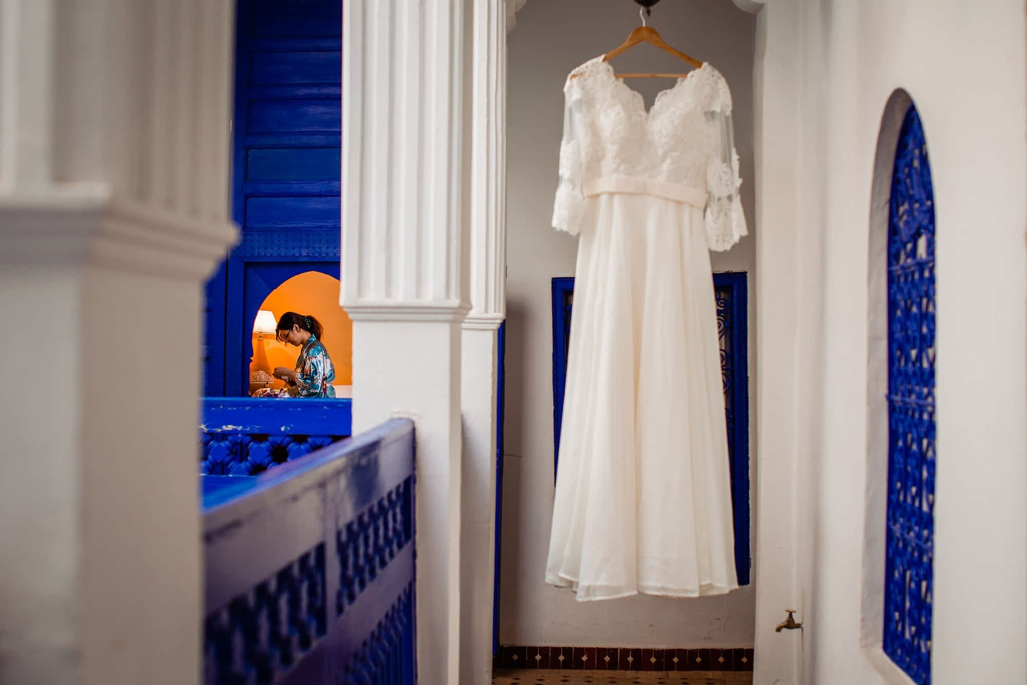 Beautiful Destination Wedding photography at Marrakech riad