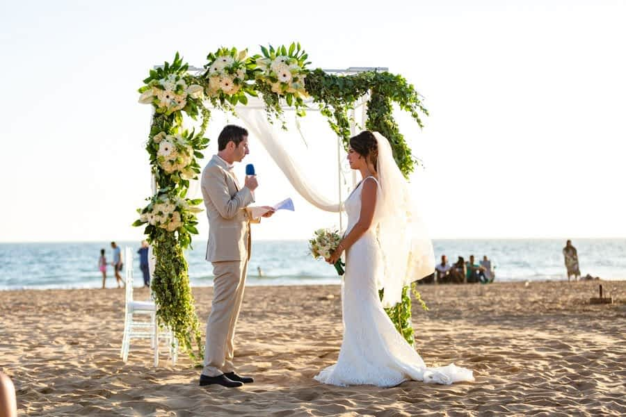 Beach wedding at Paradise plage