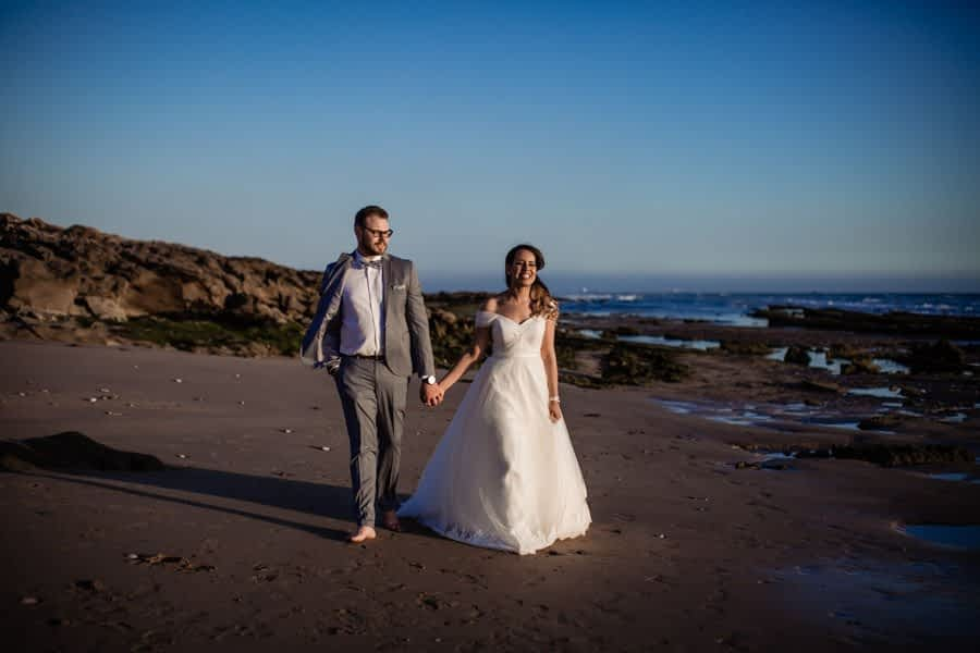 Wedding photoshoot on the beach