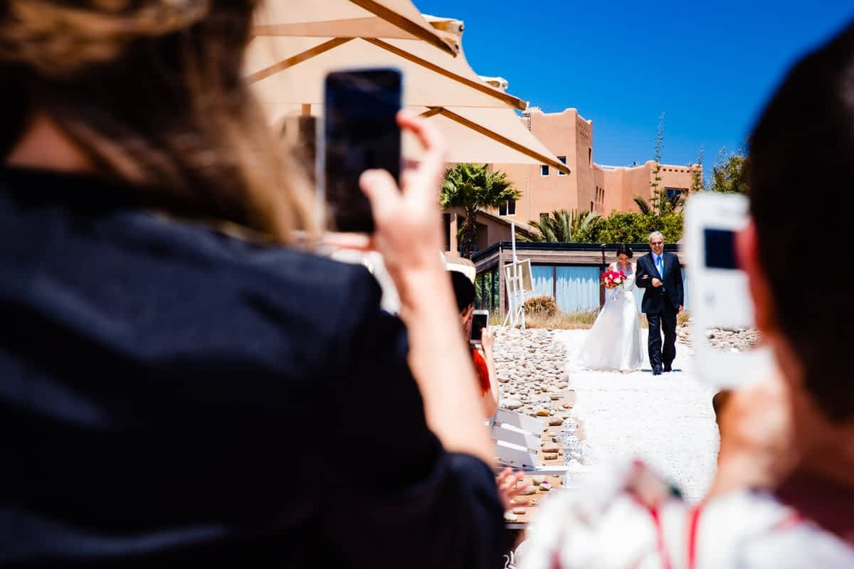 Destination beach wedding photography at Paradis Plage Agadir