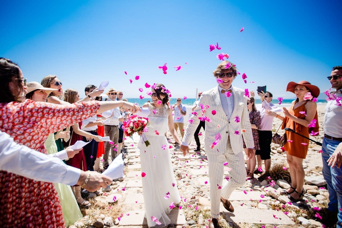 Beautiful Moroccan beach wedding photography at Paradis Plage in Agadir