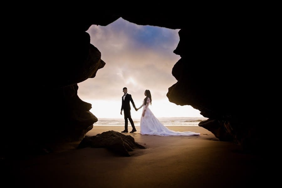 Wedding photography on beach in Morocco