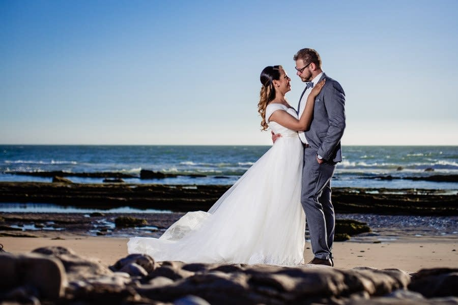 Wedding photos on Agadir beach Morocco