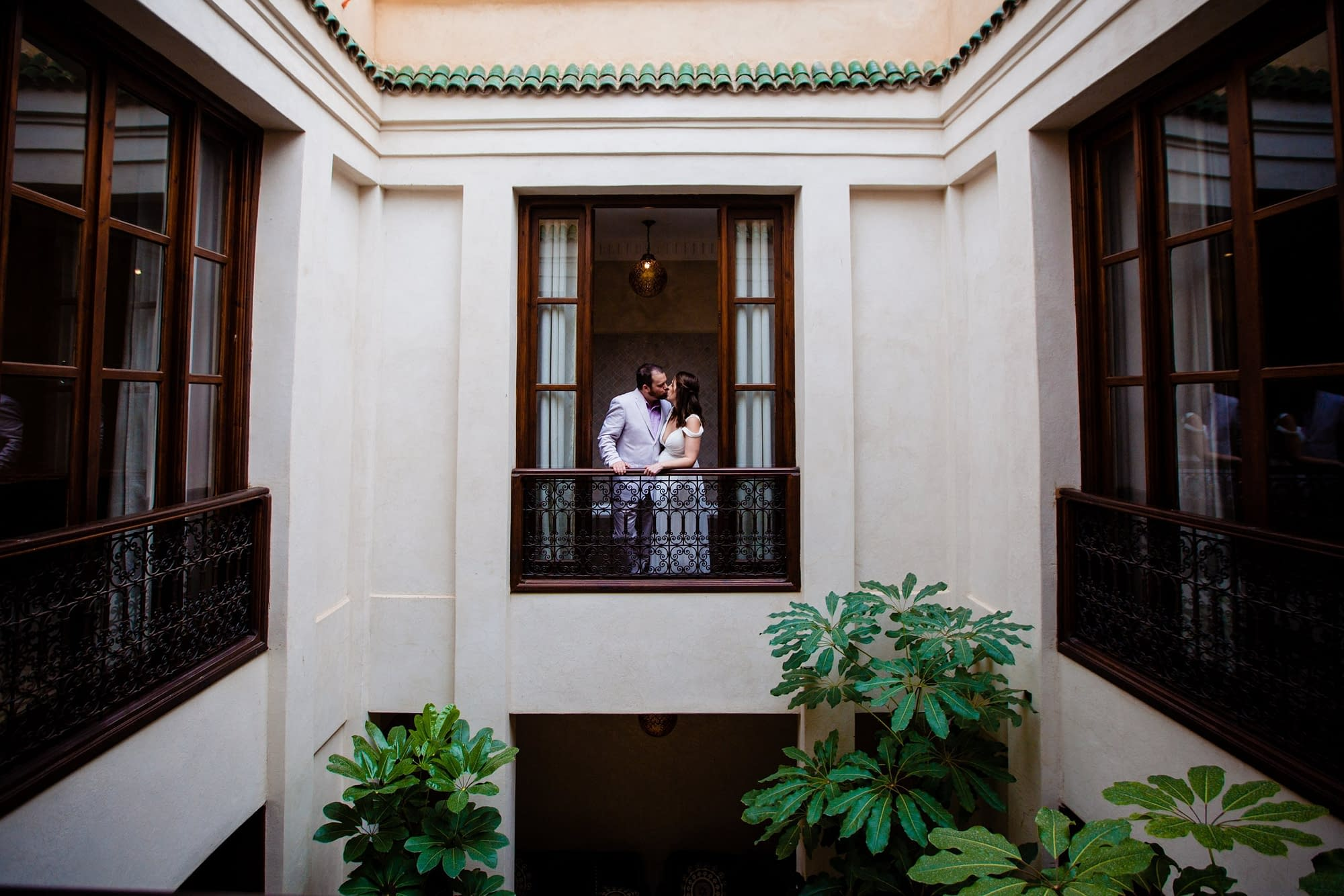 Chris & Cassie's beautiful destination wedding photography at Marrakech riad